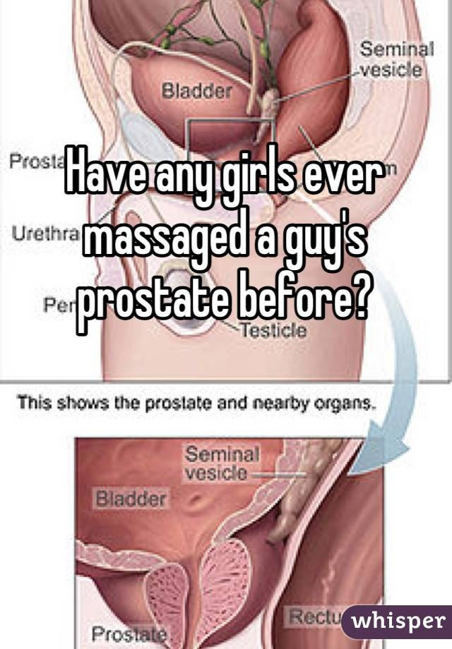 Have any girls ever massaged a guy\'s prostate before?