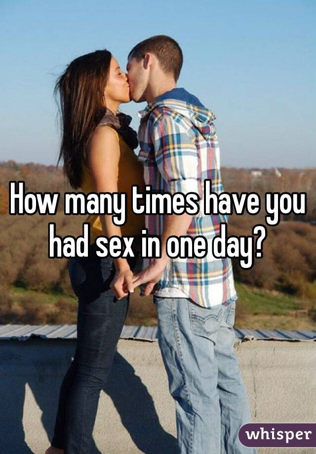 Sex how many times