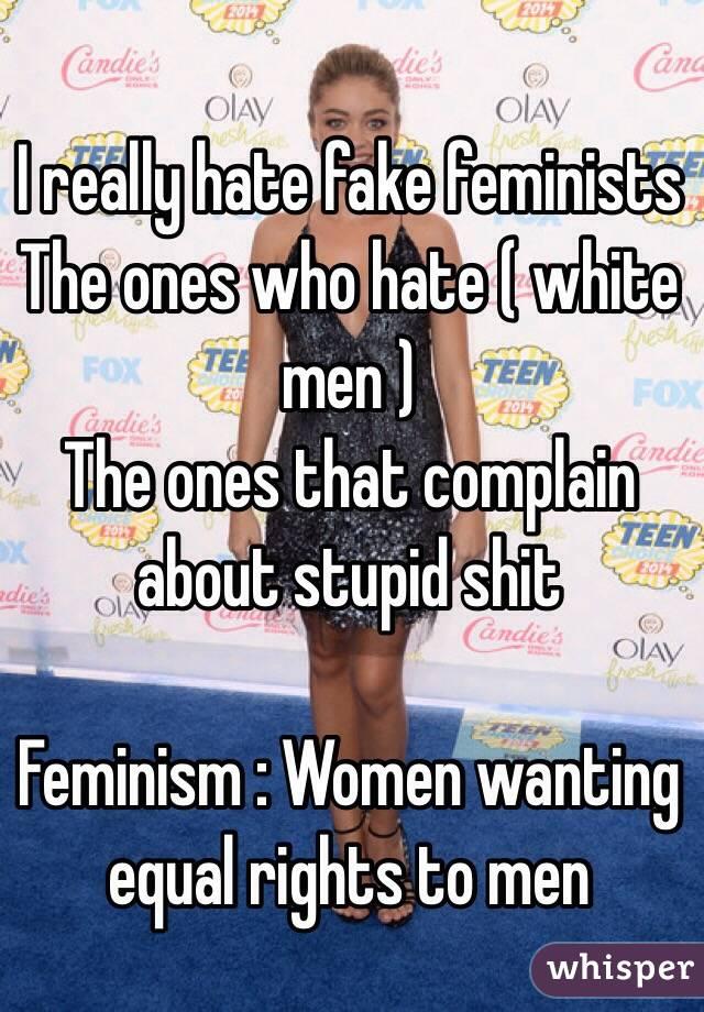 White Women Who Hate White Men