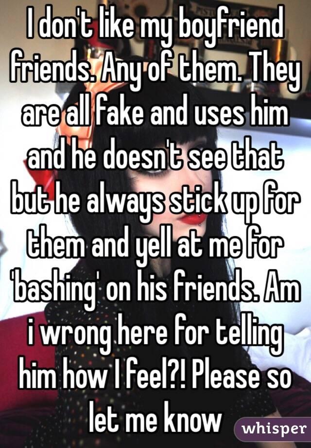i dont like my friends fiance