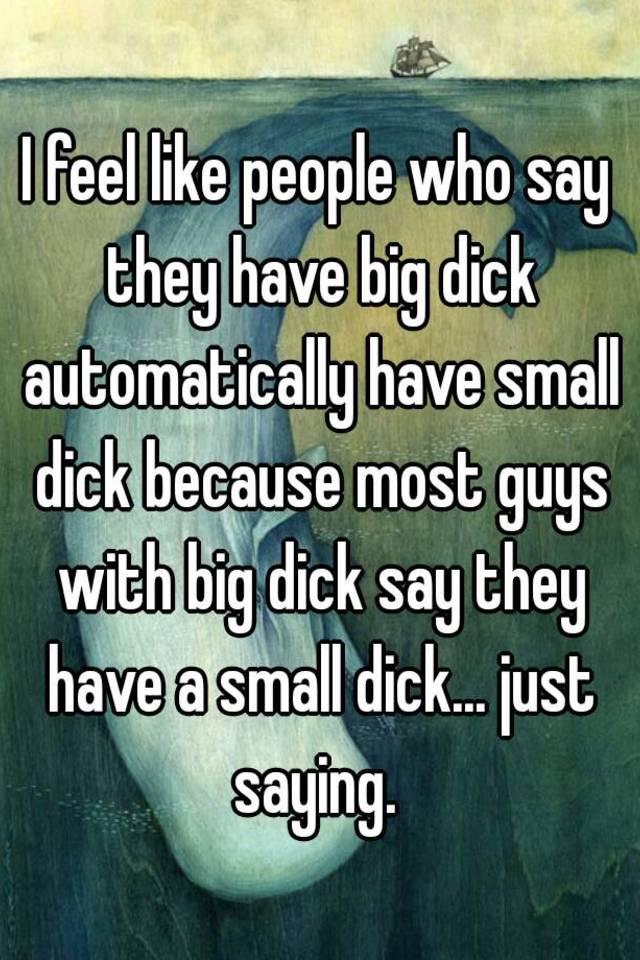 just a big dick