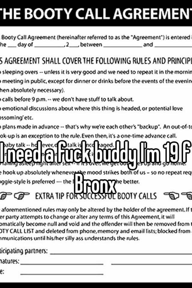 Fuck buddy rules
