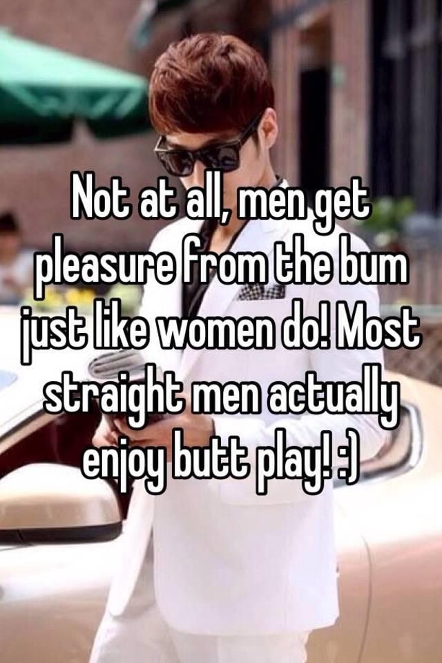 How do men get pleasure