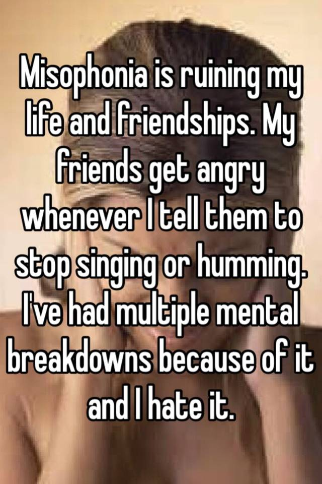 Misophonia ruining my relationship