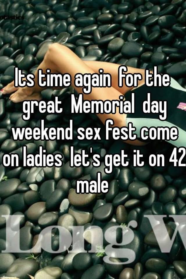 Memorial day sex