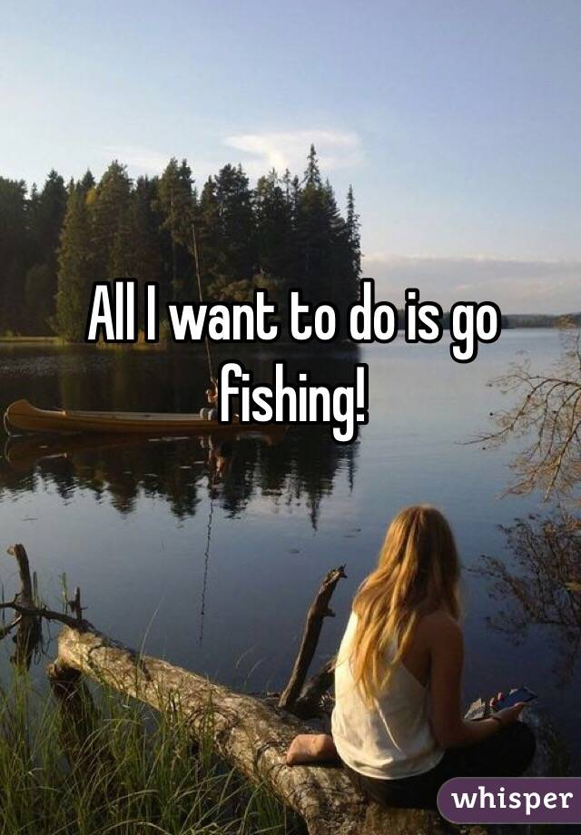 All i want to do is go fishing for Go go fishing