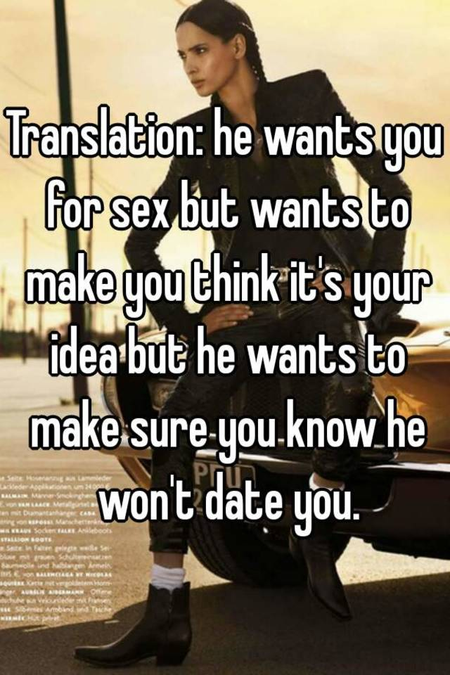 Signs that a guy wants you sexually  5 Signs He Wants to