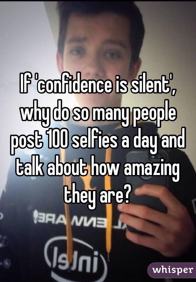 why do people like selfies