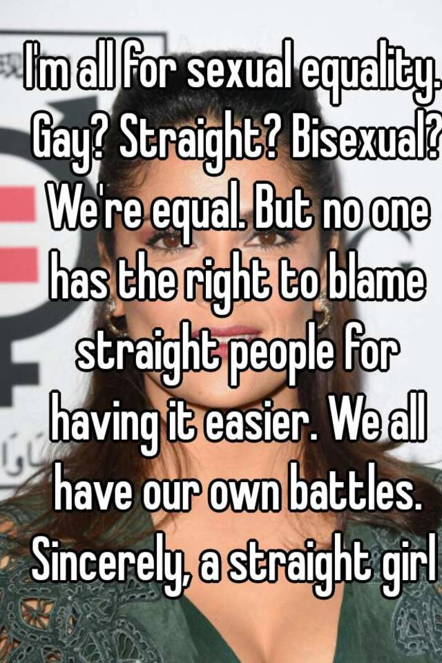 Gay straight equality