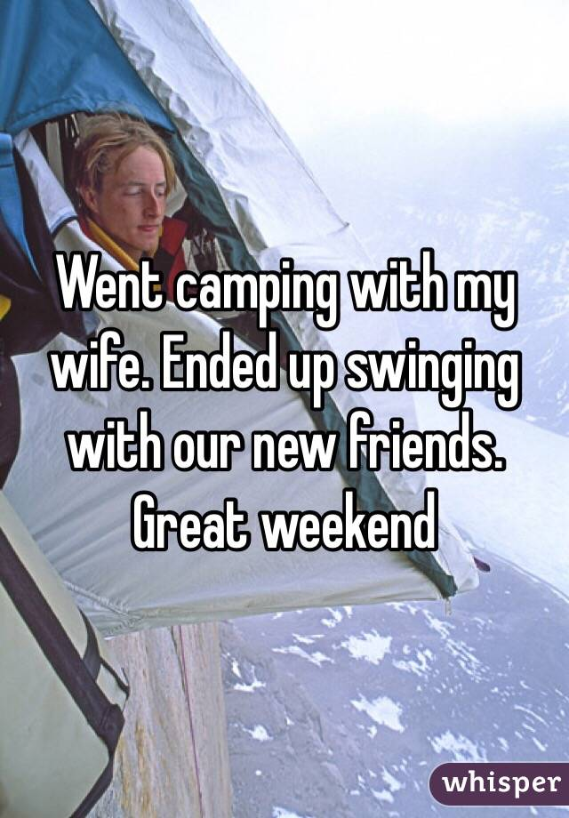 Swinging with my wife