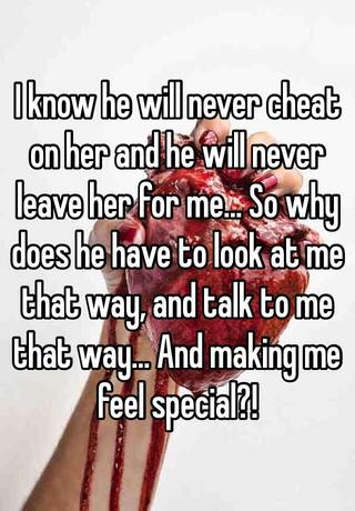 will he really leave her for me