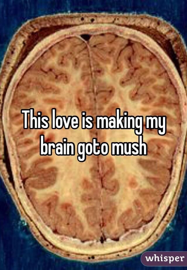 This love is making my brain goto mush