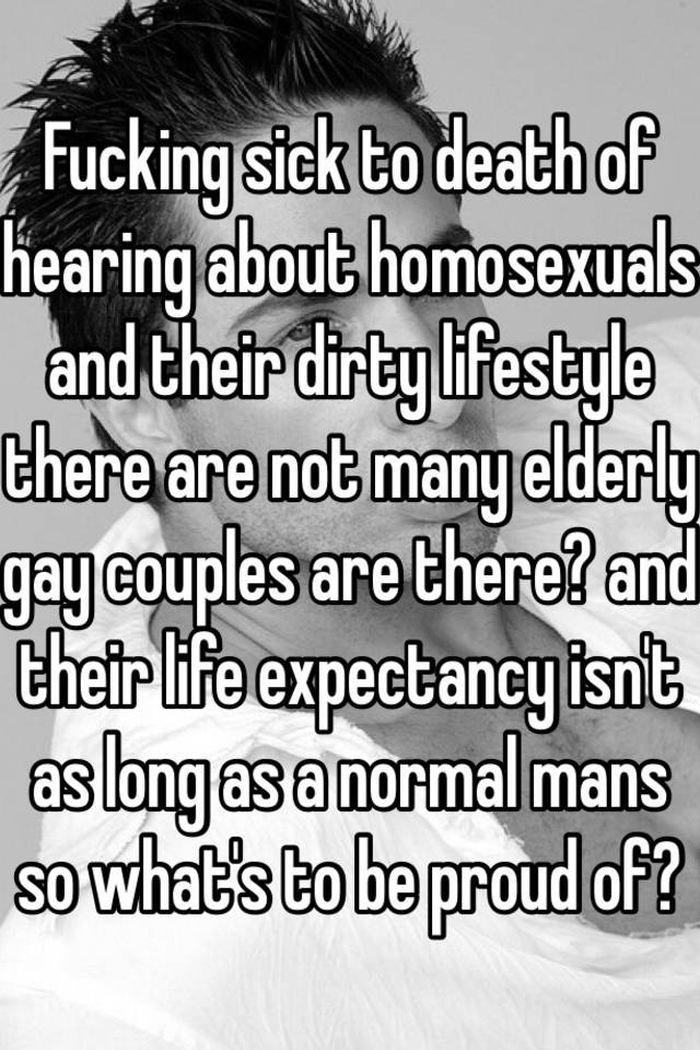Life expectancy for gay life style