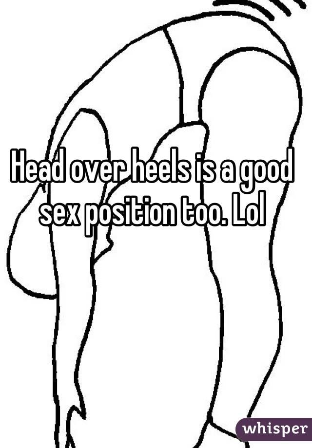 Head over heels sex position