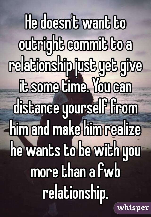 when a man wants to commit