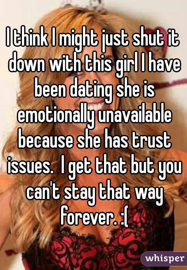 When a woman shuts down emotionally