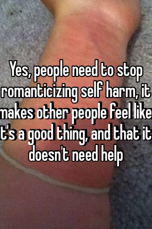 Romanticizing Self-harm Related Keywords & Suggestions