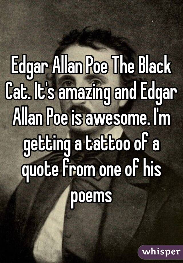 the black cat poem edgar allan poe