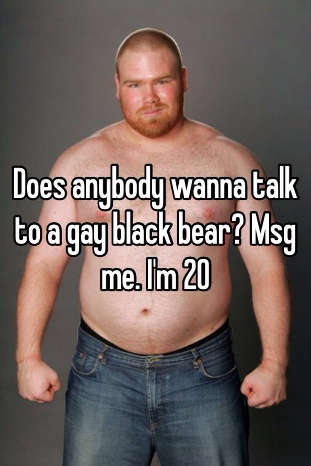 Gay black muscle bears