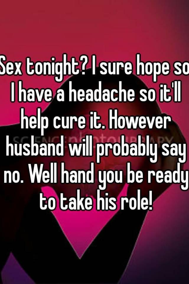 Sex cure headache