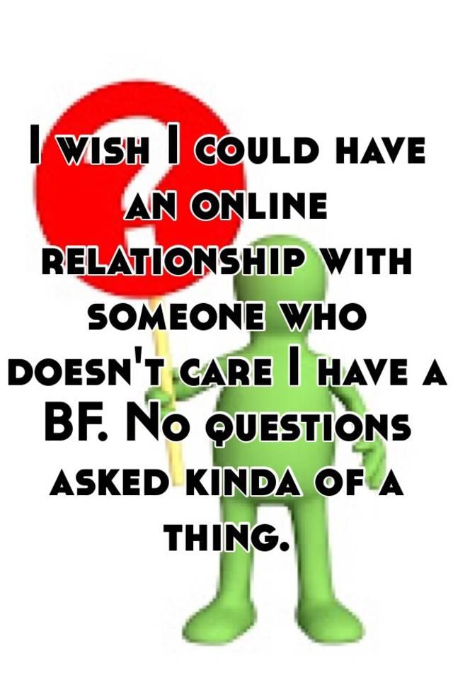 having an online relationship