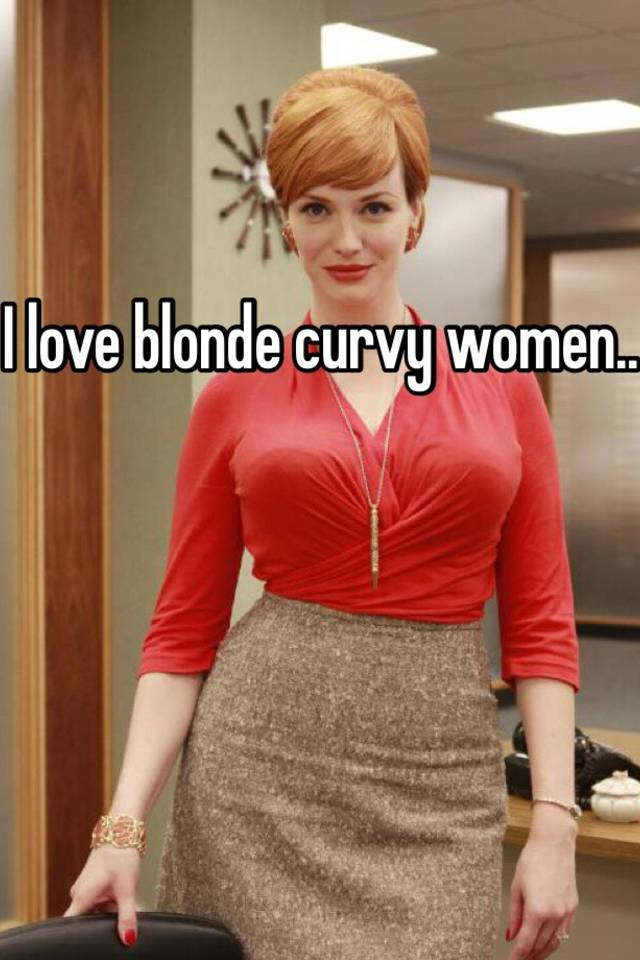Blonde curvy women