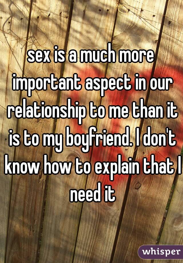 How much sex is important in a relationship