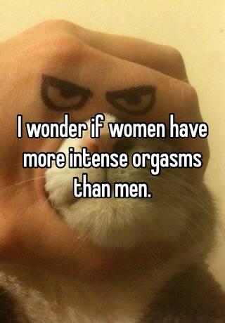 More intense orgasm for men what