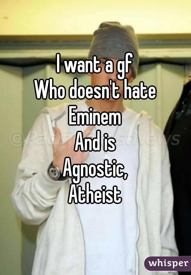 Is eminem atheist