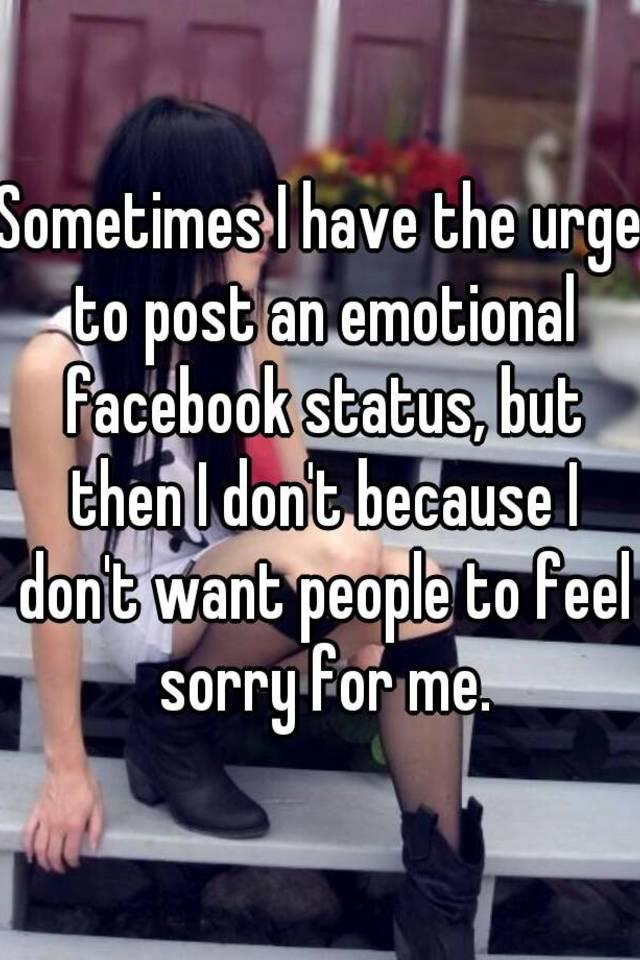 Emotional facebook statuses