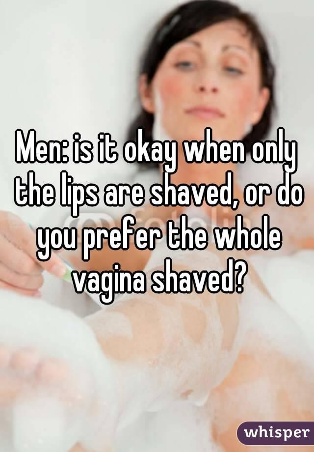 Do men like women pussy shaved