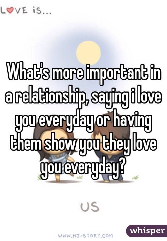 What is important in love relationship