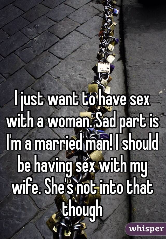 I want to have sex with a married woman