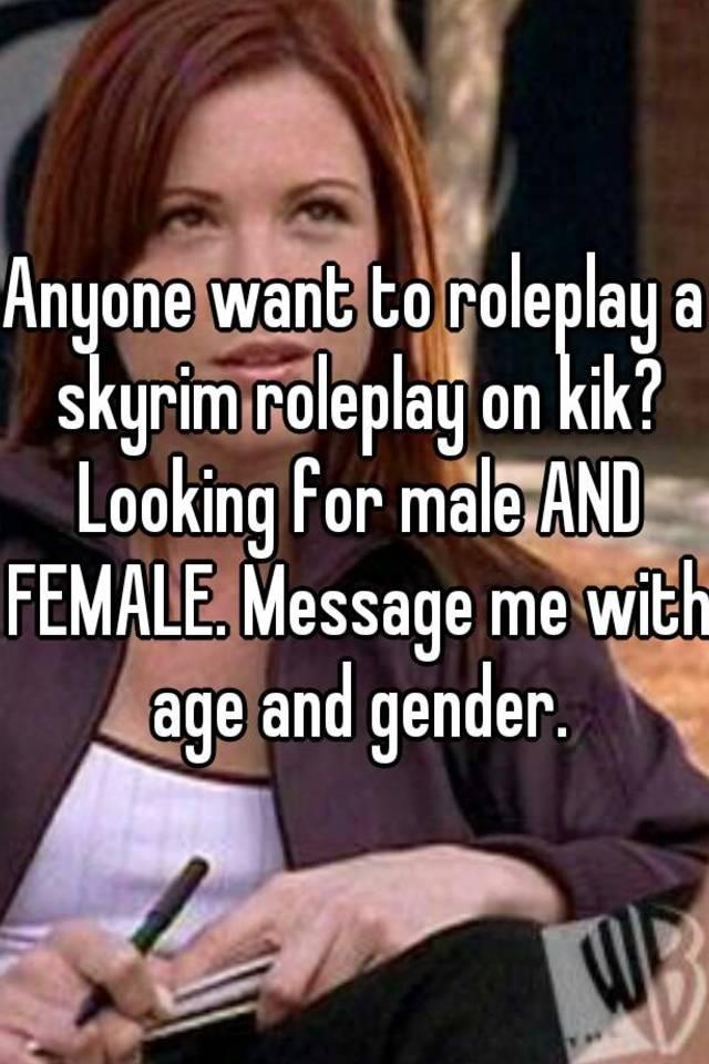 Females looking for males on kik
