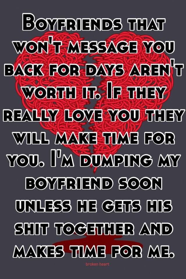 Dumping my boyfriend