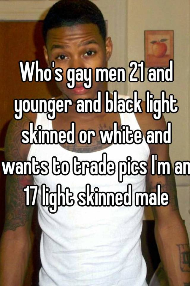 light skin blacks Gay