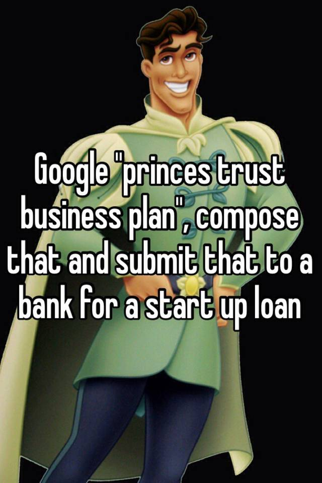 Prince's trust help with your business plan