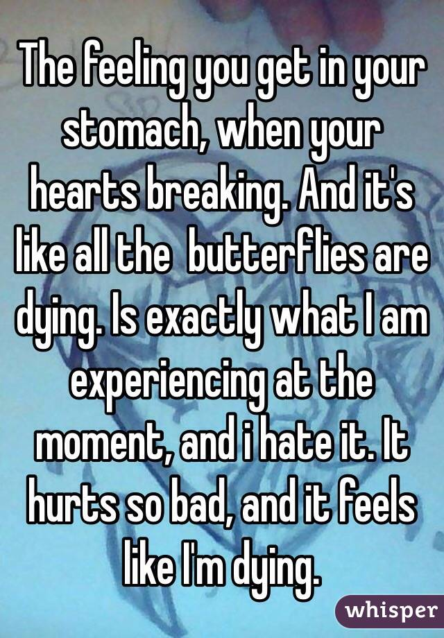 bad butterflies in stomach