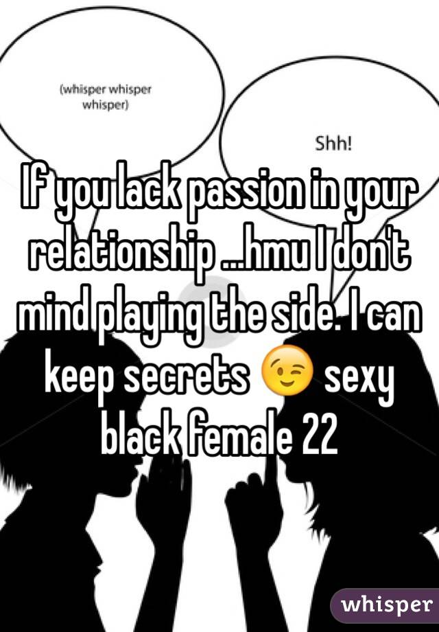 Lack of passion in a relationship
