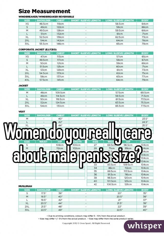 women and penis size