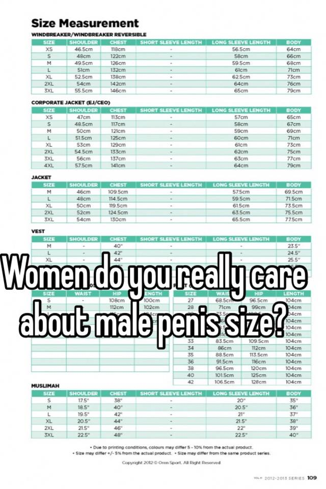 Woman penis size