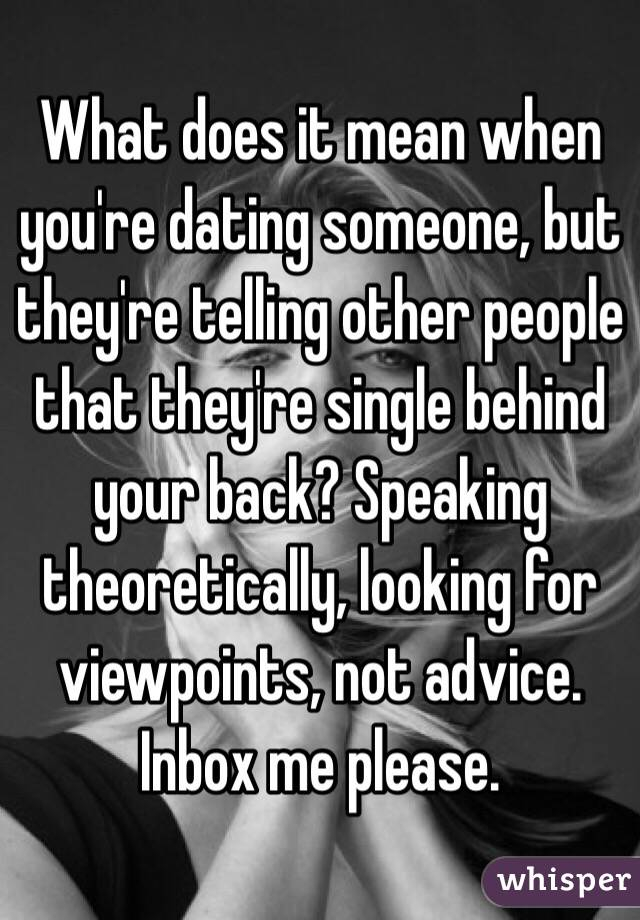 Images - What does it mean to be dating someone