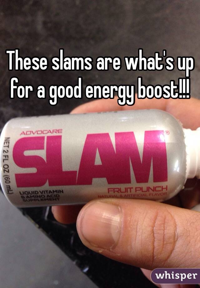 These slams are what's up for a good energy boost!!!