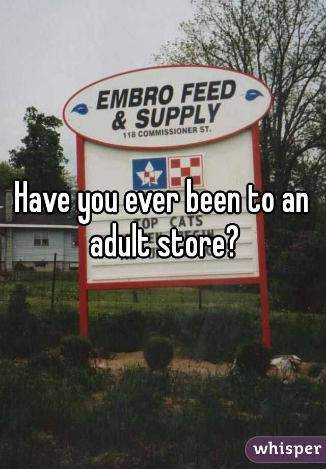 Have you ever been to an adult store?