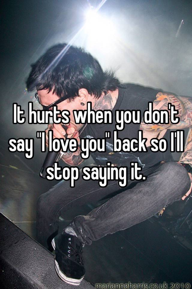 when you cant say i love you back