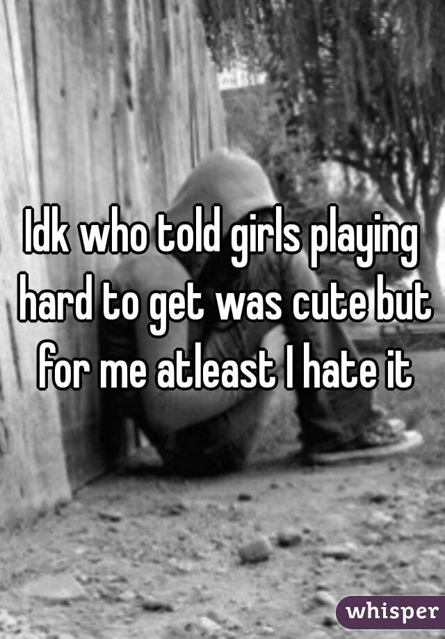 When girls play hard