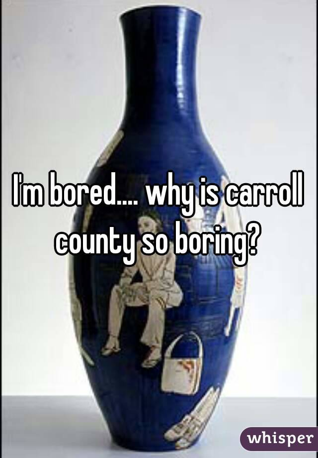 I'm bored.... why is carroll county so boring?