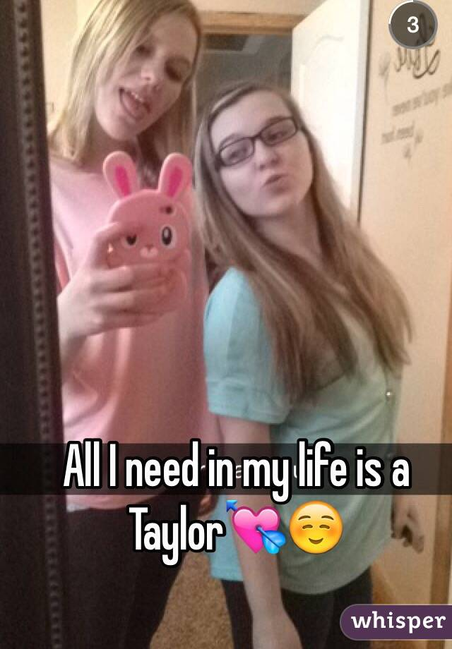 All I need in my life is a Taylor💘☺️