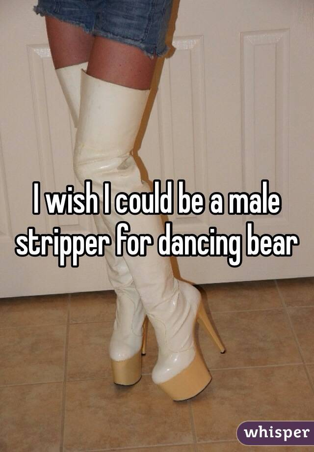 I wish I could be a male stripper for dancing bear