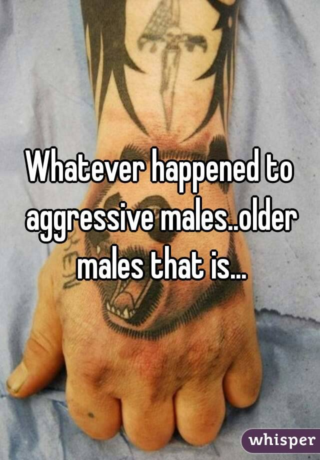 Whatever happened to aggressive males..older males that is...
